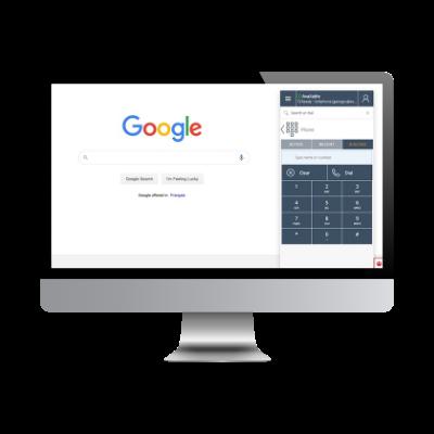 Chrome with softphone