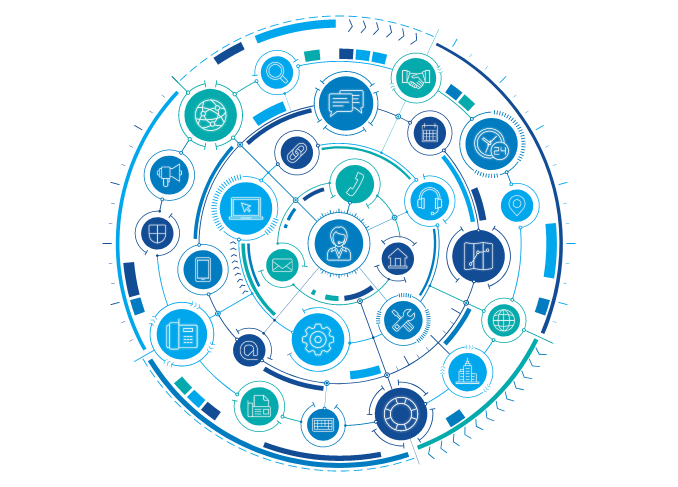 Support network graphic
